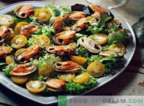 Ensalada de mejillones - las mejores recetas. Cómo cocinar adecuadamente y sabrosa ensalada de mejillones.