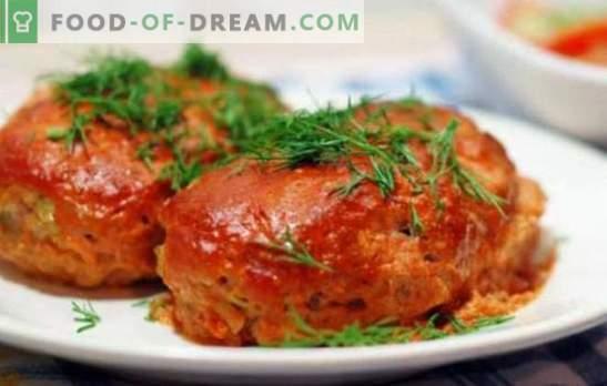Los rollos de repollo son perezosos con el repollo: cocine en el horno, la sartén y la olla múltiple. Opciones de rollos de repollo perezosos con col, frijoles, champiñones