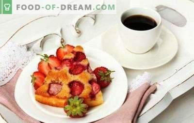 Pastel con fresas en un líquido de cocción múltiple y masa para hornear. Receta para un pastel de fresa en una olla de cocción lenta: gelatinosa o gelatinosa