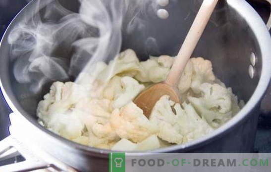 Cuánto cocinar la coliflor: fresca y congelada. Diferentes métodos y recetas: cómo cocinar la coliflor para diferentes platos