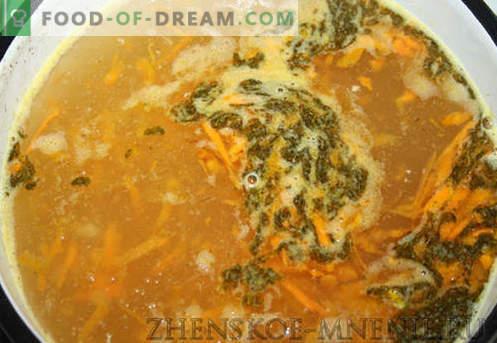Sopa con albóndigas: una receta con fotos y una descripción paso a paso