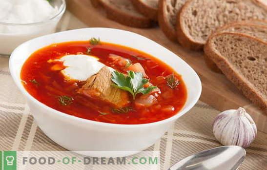 Borsch: ¡una receta clásica con carne es el sueño de un hombre! Compartimos recetas antiguas de borscht clásico con carne