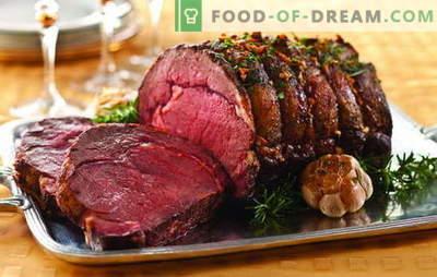 Deliciosos platos de carne: mesa festiva gourmet. Ideas impecables de platos de carne caliente para momentos especiales de la vida.