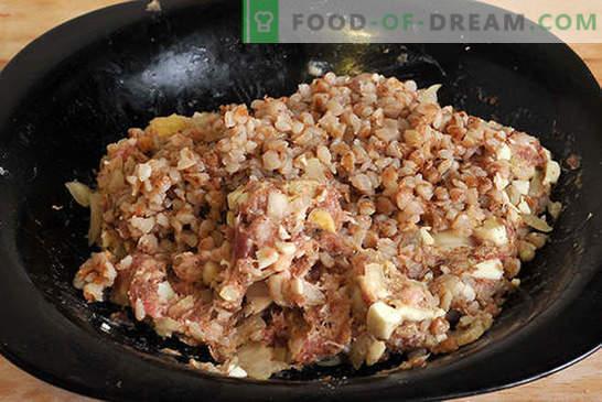 Cocinando deliciosas chuletas con trigo sarraceno y huevo (foto receta). Chuletas con trigo sarraceno y huevo - recomendamos! Receta paso a paso con fotos