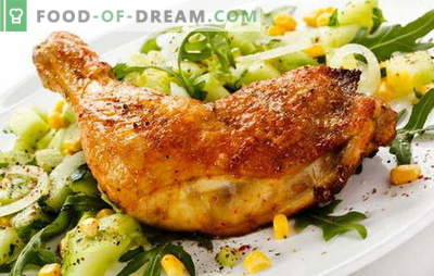 Patas de pollo frito en una sartén - una forma clásica de cocinar carne. Recetas de muslos de pollo frito en una sartén con ajo, tomate