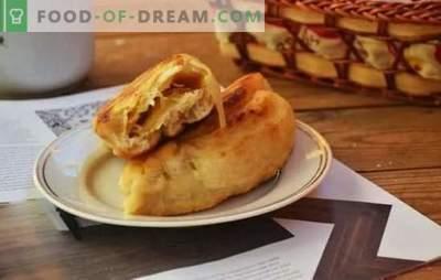 Empanadas con col - Comida rápida rusa en recetas paso a paso. Tipos de masa para pasteles de repollo: recetas paso a paso y secretos de cocina