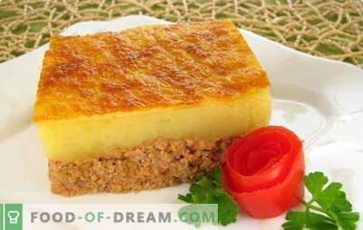 La cazuela triturada es un plato delicado para toda la familia. Recetas probadas y nuevas para puré de papas con carne picada, hígado, pescado y champiñones