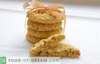 Galletas de avena suaves - recetas y trucos. Cómo hornear galletas de avena suaves con miel, nueces, naranja, manzanas, queso cottage