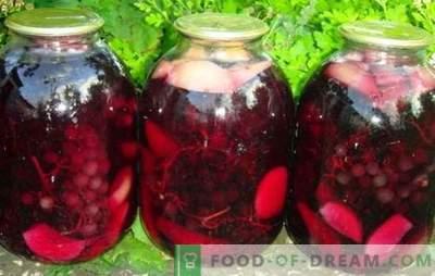 Компоти од грозје и јаболка се убаво и пријатно чудо. Бидете сигурни дека ќе закупите компот од грозје и јаболка за зима