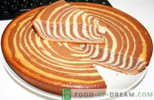 Pastel de cebra - las mejores recetas. Cómo cocinar correctamente y sabroso pastel de cebra.
