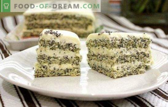 La torta con semillas de amapola es un postre inusual e increíblemente sabroso. Recetas sencillas y originales de pastel de amapola