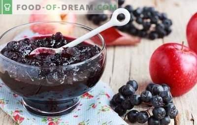 Gelatina de chokeberry negra: un postre saludable y un aporte de vitaminas para el invierno. Variantes de chokeberry con gelatina y sin