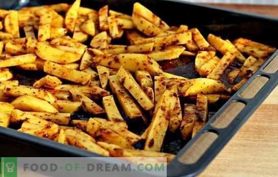 Papas fritas en el horno - daño mínimo y sabor máximo! Cómo cocinar ...