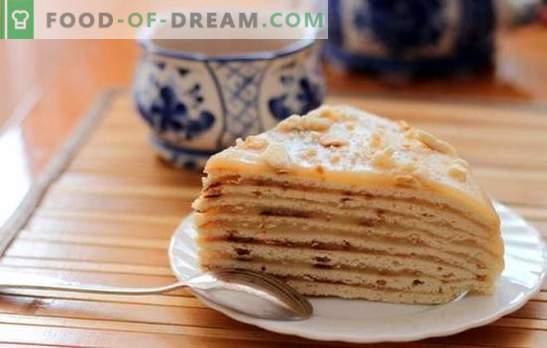 Pastel de minutos: ¡rápido y sabroso! Recetas sencillas de miel, crema agria, hojaldre y pastel de queso cottage