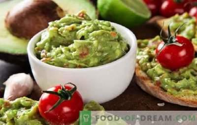 Salsa de aguacate Guacamole: ¡Recetas para suplementos mexicanos! Recetas de salsa de guacamole de aguacate nuevas y clásicas, bocadillos con ella