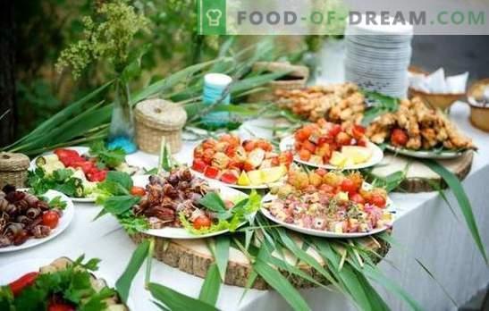 Bocadillos de picnic en la naturaleza - ¡será divertido y sabroso! Cocinar de forma sencilla y rápida diferentes bocadillos para picnics en la naturaleza