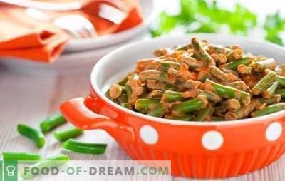 Cómo cocinar frijoles verdes sabroso y rápido: una ensalada, guarnición con verduras, huevos, champiñones. Cocinar judías verdes sabrosas - recetas