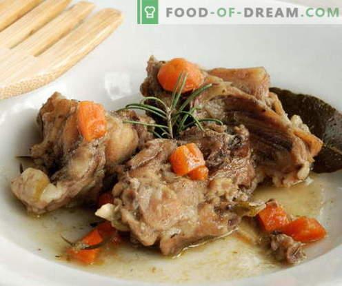 Conejo en una olla de cocción lenta - las mejores recetas. Cómo cocinar correctamente y sabroso el conejo en una olla de cocción lenta.