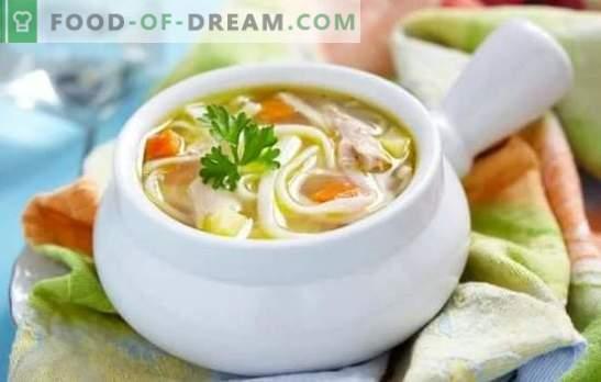 Tallarines caseros: recetas paso a paso probadas repetidamente. Secretos de deliciosos fideos caseros con pollo y verduras (paso a paso)