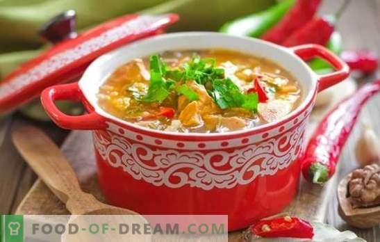 Sopa Kharcho de cerdo: rica, espesa y picante. Las mejores recetas de sopa de cerdo kharcho: un plato georgiano de culto