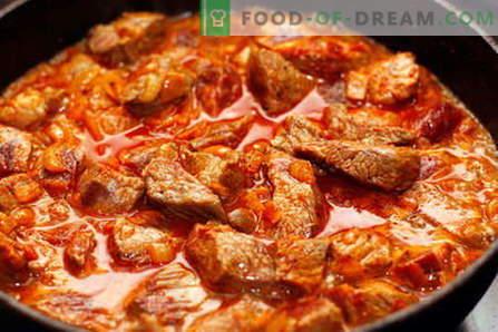 Gulash de ternera - las mejores recetas. Cómo cocinar correctamente y sabroso el gulash de ternera.
