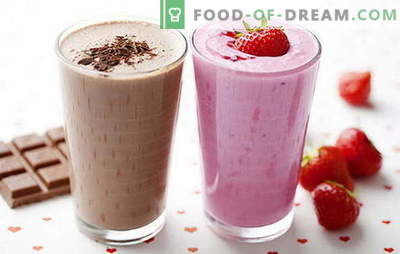 Milk shake recipe at home: with berries, fruits, chocolate, nuts. The best milkshakes are here!