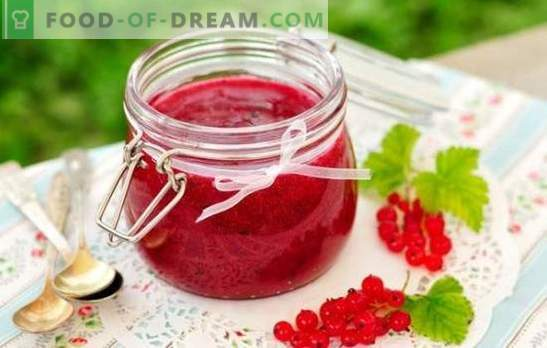Currant jam for the winter - for taste and health! Recipes of different jams of red and black currants for the winter