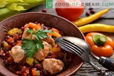 Stufato di verdure con polpette di pollo