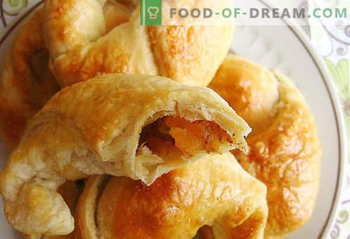Bagels de hojaldre (hojaldre) - las mejores recetas. Cómo hacer correctamente y sabroso hacer bagels de hojaldre.