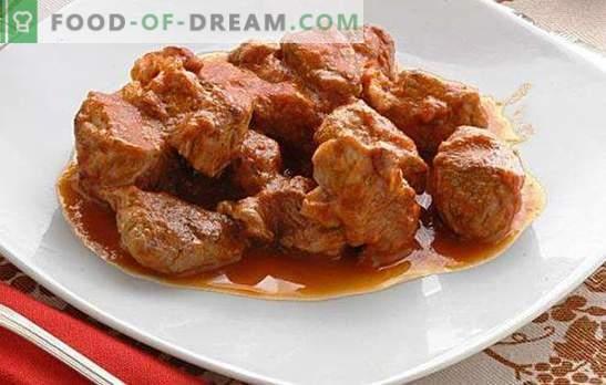 Goulash con salsa en una olla de cocción lenta - ¡perfecto! Recetas de gulash con salsa en una olla de cocción lenta: carne de res, cerdo y pollo