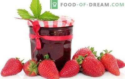 Jalea de fresa con gelatina, pectina, agar-agar. Gelatina de fresa con manzanas o frambuesas: postre o preparación para el invierno