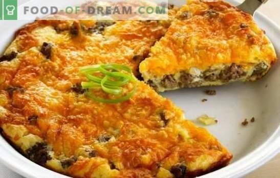 Pastel relleno con carne picada - ¡hornear sin tensión! Recetas para empanadas rápidas, nutritivas y sabrosas con carne picada y otros rellenos