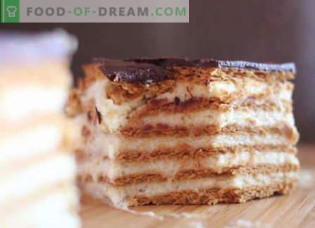 Las tortas de galletas son las mejores recetas. Cómo hacer correctamente y sabroso hacer un pastel de galletas.