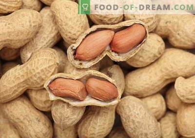 Cacahuetes - descripción, propiedades, uso en la cocina. Recetas con cacahuetes.