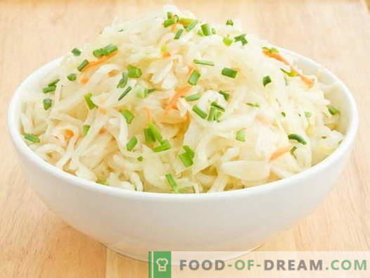 Ensalada de chucrut - las mejores recetas. Cocinar ensaladas de chucrut correctamente.