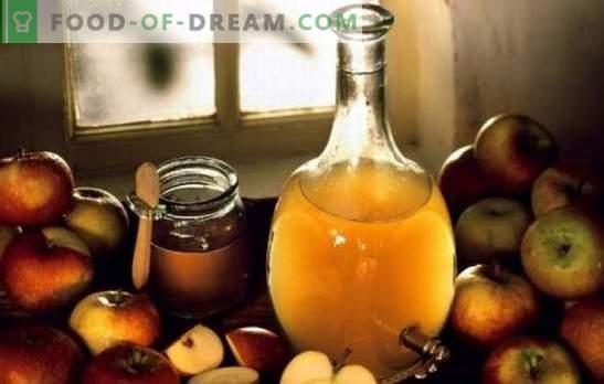 Vinagre de sidra de manzana: cocinar en casa. ¿Por qué es mejor cocinar vinagre de manzana en casa?