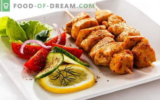 Kebab de pollo - las mejores recetas. Cómo cocinar pinchos de pollo.