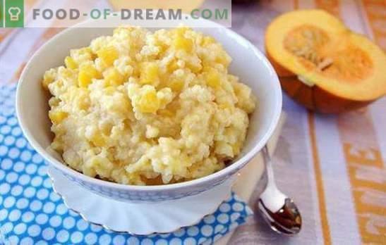 Gachas de mijo con calabaza - ¡la nutrición adecuada es deliciosa! Recetas para gachas de mijo con calabaza en ollas, una olla de cocción lenta y un horno