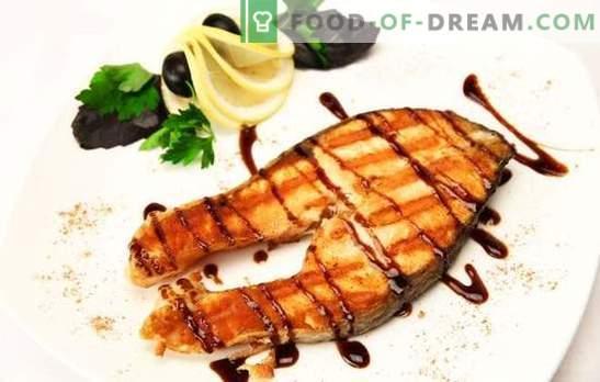Salmón a la parrilla: pescado noble, ¡cocina digna! Con jengibre, verduras en adobo de limón: diferentes platos de salmón a la parrilla