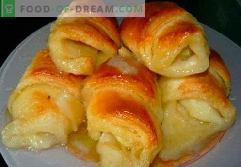 Bagels con relleno son las mejores recetas. Cómo hacer correctamente y sabrosos panecillos cocidos con relleno.