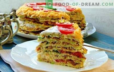 Pastel de calabaza con queso - ¡Esto es un bocadillo! Recetas para diferentes pasteles de calabacín con queso y tomates, pescado, carne picada