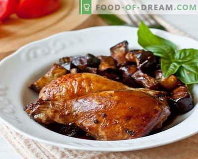 Baklažanų vištiena - geriausi receptai. Kaip tinkamai ir skaniai virti baklažanų vištienos.