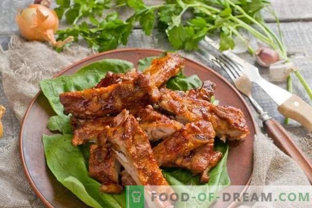Costillas de cerdo al horno con salsa de miel
