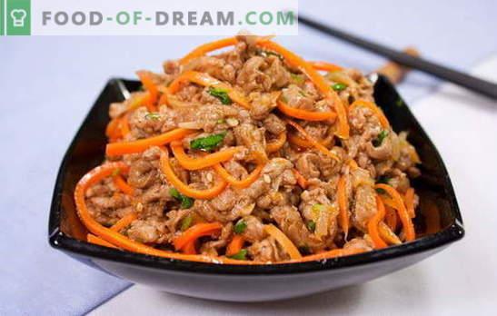 Xe de zanahorias - aperitivo de fuego! Recetas fragantes heh zanahorias con carne, pescado, champiñones, berenjenas, pollo