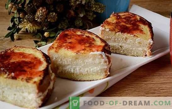 Croutons con queso cottage: ¡un enfoque creativo para el desayuno! Una versión rápida de una rosquilla de queso cottage o una tarta de queso: crutones fritos con queso cottage