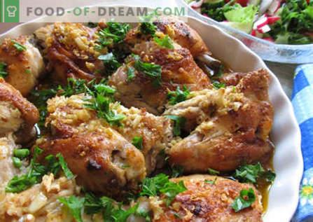 Pollo georgiano - las mejores recetas. Cómo cocinar el pollo georgiano de manera adecuada y deliciosa