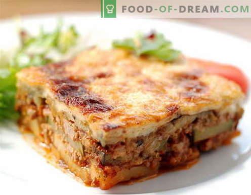 Moussaka - las mejores recetas. Cómo cocinar correctamente y sabroso Moussaka.