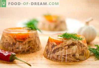 Carne aspic - las mejores recetas. Cómo cocinar correctamente y rellenar la carne.