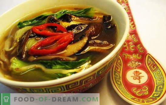 Sopa china - en el camino a la sabiduría oriental. Recetas de sopas chinas con fideos, arroz, mariscos, tomates, funchoza y pescado