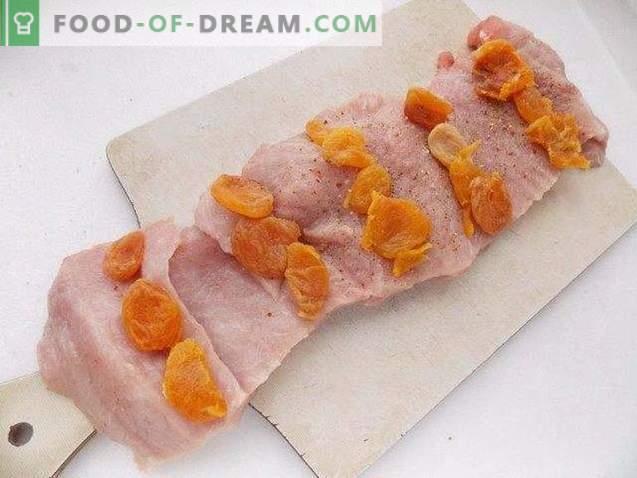Pastel de carne de cerdo con albaricoques secos